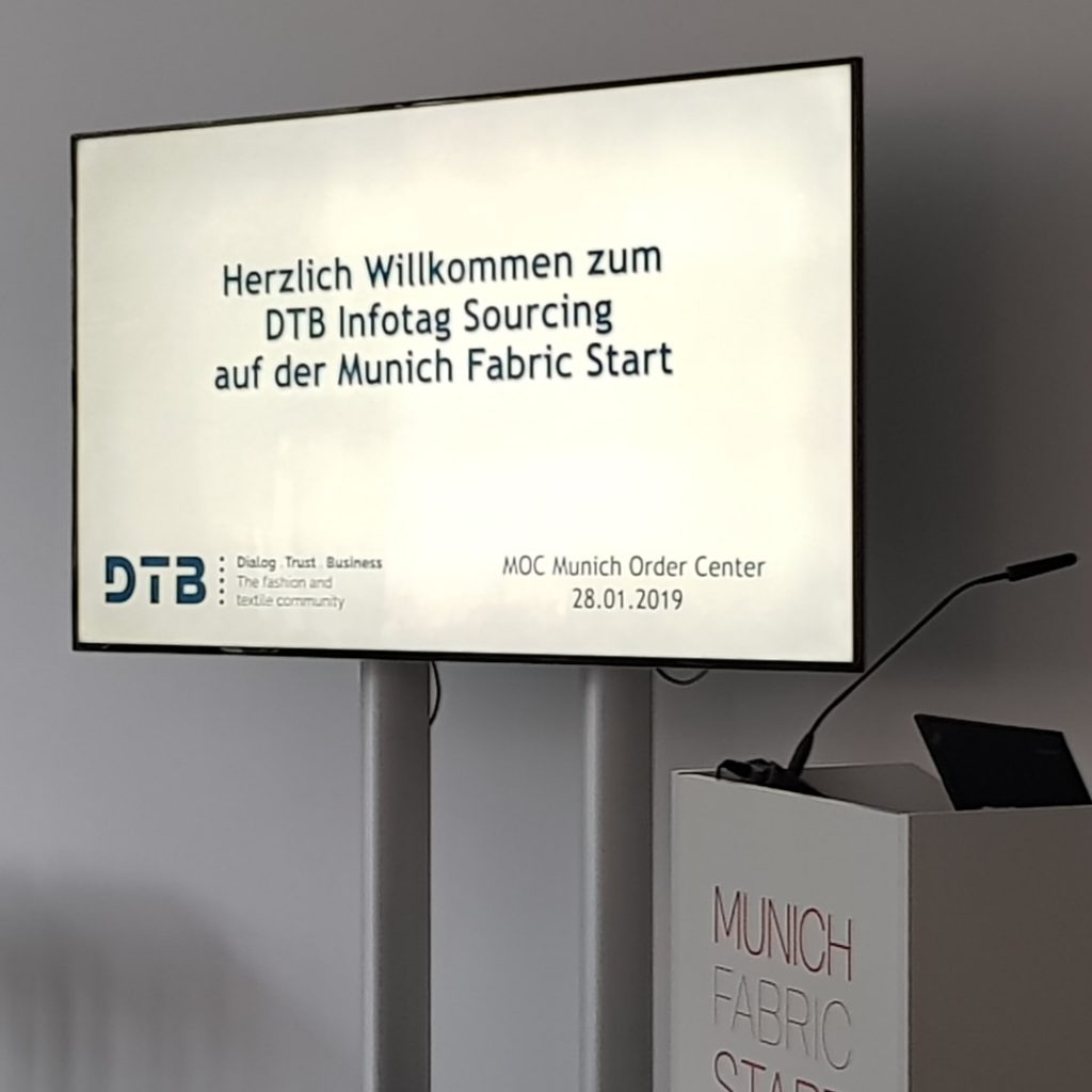 DTB Infotag Sourcing auf der Munich Fabric Start