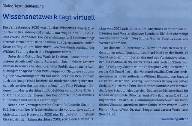 Bericht Jahrestagung DTB im R+WTextilservice